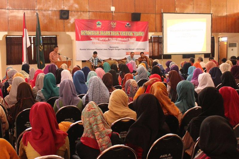 Seminar Hari Hak Untuk Tahu di Kotas Salatiga