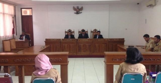 Sidang penundaan sengketa informasi antara bara JP Jateng dan Disnarkertrans Kota Semarang