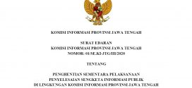 SE Penghentian Sementara Pelaksanaan PSI di lingkungan KIP Jateng