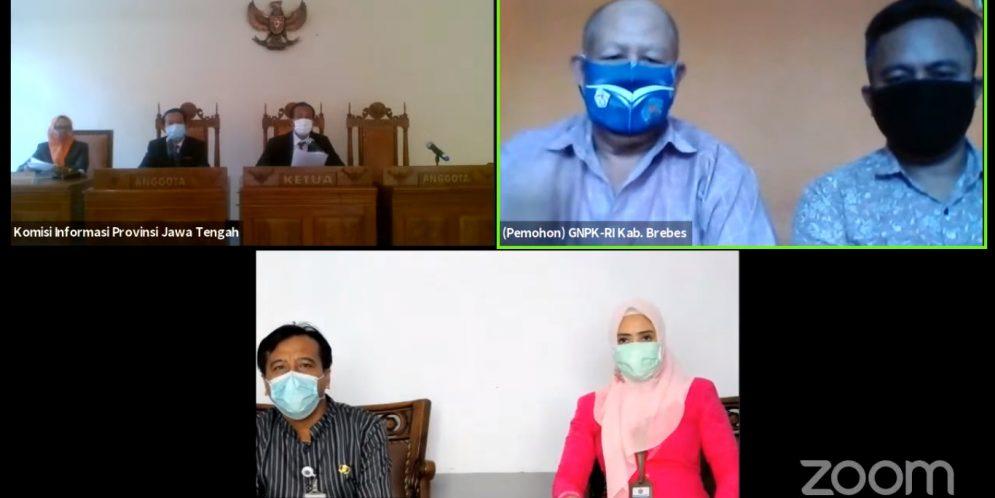 Dalam Putusannya Majelis Komisioner Mengabulkan Permohonan GNPK-RI Kabupaten Brebes untuk seluruhnya